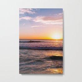 Sunset Surfers V Metal Print