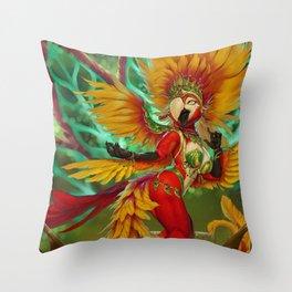 The Carnival Queen Throw Pillow