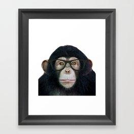 Geek Monkey Framed Art Print