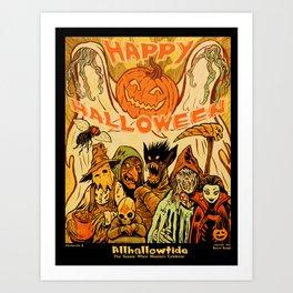 Allhallowtide 5 Halloween Poster Art Print