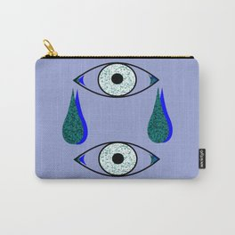 2 Eyes crying blue & green Carry-All Pouch