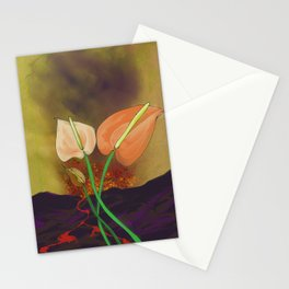 Last Flowers Before the Volcano Stationery Cards