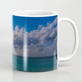 Seaside Under Umbrellas Coffee Mug