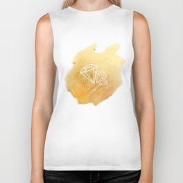 Faceted Gold Biker Tank