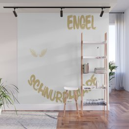 not all angels have wings some have whiskers Wall Mural