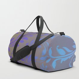 Ombre Damask Purple and Blue Duffle Bag