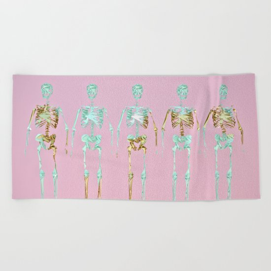 Spooky Skeletons Beach Towel