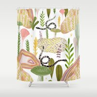 garden Shower Curtains featuring Botanical Garden by Estée Preda