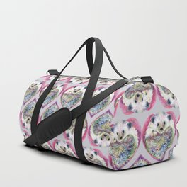 Hedgehog Heart Pattern Duffle Bag