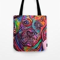 lab Tote Bags featuring Lovable Lab by EloiseArt