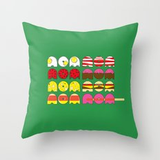 nom nom nom nom nom nom nom ... nom Throw Pillow