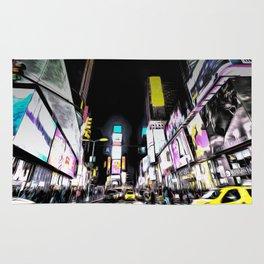 Times Square New York Art Rug
