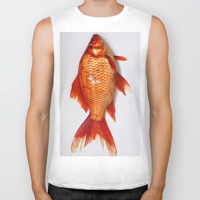 Red Gold Fish Biker Tank