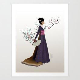 Purple Kimono Art Print