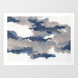 clouds_march Art Print
