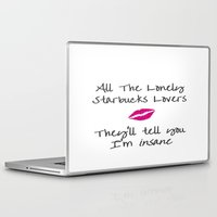 starbucks Laptop & iPad Skins featuring T Swift's long list of ex-lovers drink Starbucks.. by Tiny Baker