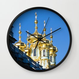 Catherine Palace Spires - Pushkin - Russia Wall Clock