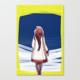 I turn my back to Winter Canvas Print