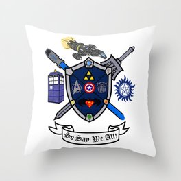 Greek Crest - So Say We All Throw Pillow