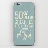 toddler iPhone & iPod Skins featuring Animal Facts: Giraffe by Daniel Ebbrell