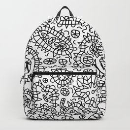Squiggle Doodle in Black and White Backpack