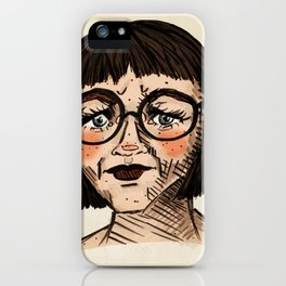 Girl with Glasses iPhone Case