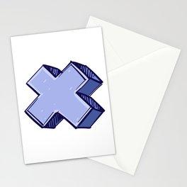 Purple X Stationery Cards