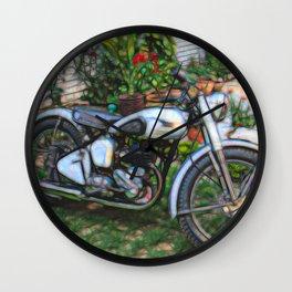 Vintage Classic British Motorbike Wall Clock