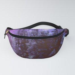 Galaxy Winter Forest Purple Fanny Pack
