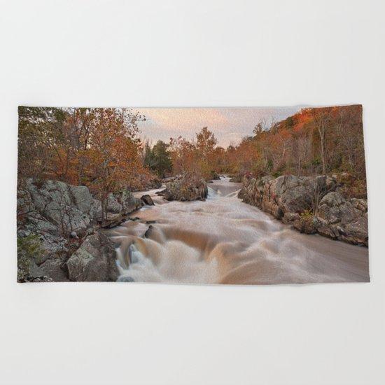 Great Autumn Falls Beach Towel
