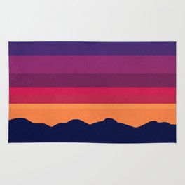 sunset colors rugs society6