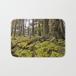 AUTUMN FOREST BRACKEN FERNS Bath Mat