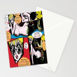 Space Chick & Nympho: Vampire Warrior Party Girl Comix #1- Neptuna in a Comic Page  Stationery Cards