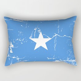 Somalia flag with grunge effect Rectangular Pillow