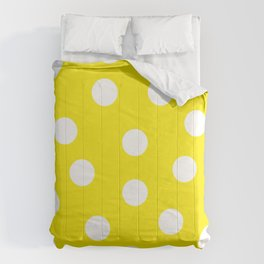 Polka Dots - Aureolin and White Comforters