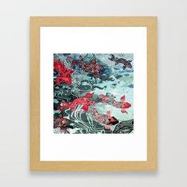 Lucky Koi Framed Art Print