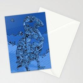 Blue Bird Machine City Stationery Cards
