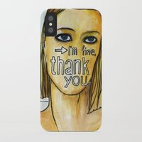 tenenbaum iPhone & iPod Cases featuring Margot Tenenbaum. by Piltrafadas Ilustracion