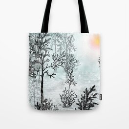 Winter in the woods . Tote Bag