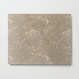 Coral Marble Gold Mine Metal Print