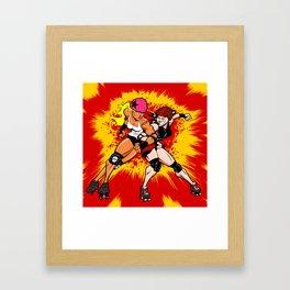 Derby Crackle Framed Art Print
