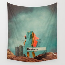 Happiness Here Wall Tapestry