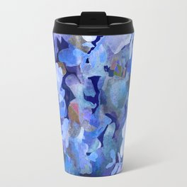 Wild Blue Rose Garden Travel Mug