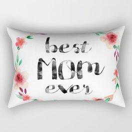 Best Mom Ever floral wreath Rectangular Pillow