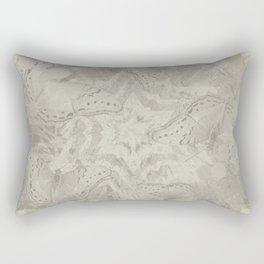 Hidden butterflies and star mandala Rectangular Pillow