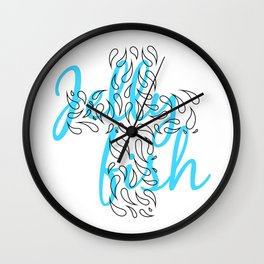 Jellyfish Cross Wall Clock