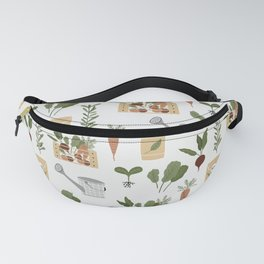 Botanical Gardening Pattern Pots And Plants Fanny Pack