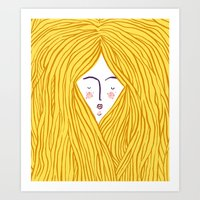 blondie Art Prints featuring Blondie by Katie L Allen