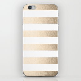 Simply Stripes in White Gold Sands iPhone Skin