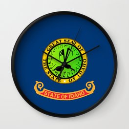 Musical Idaho State Flag Wall Clock